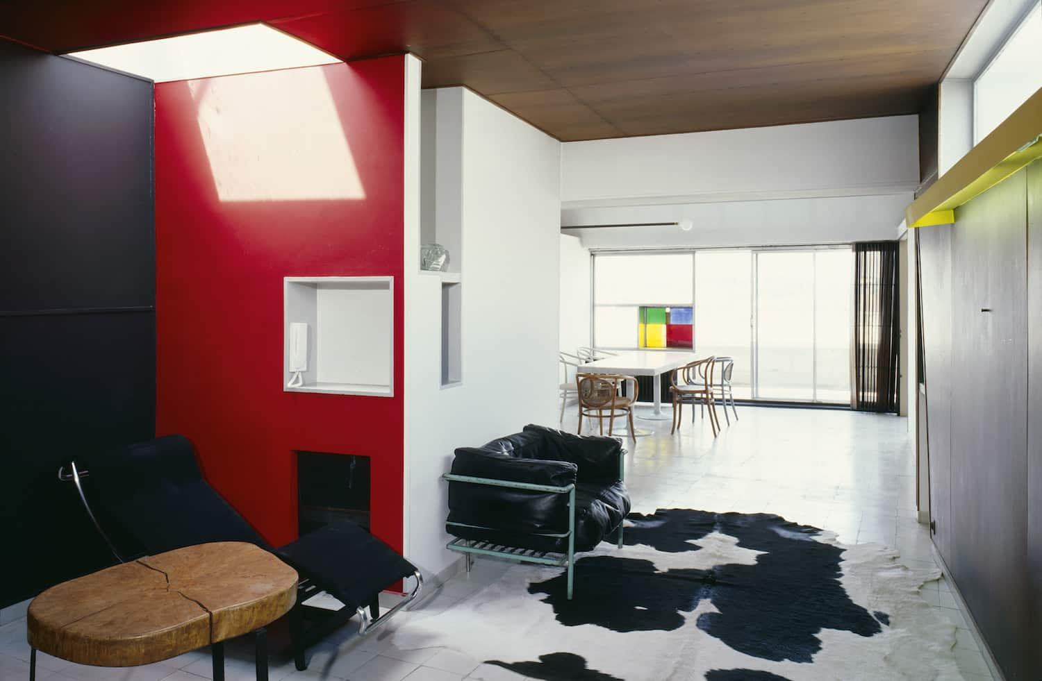 the living room in Le Corbusier's Paris apartment