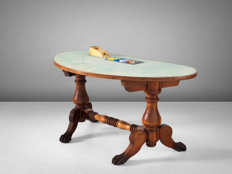 Blackjack table, circa 1940s