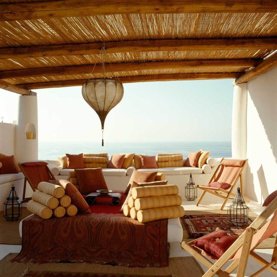 Terrace in Salina Island, Italy by CasaQ