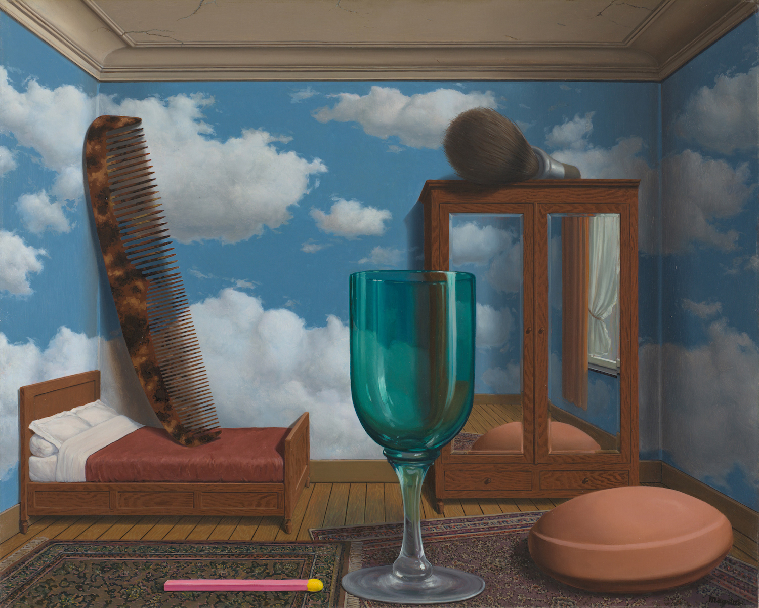 Personal Values, 1952, by René Magritte