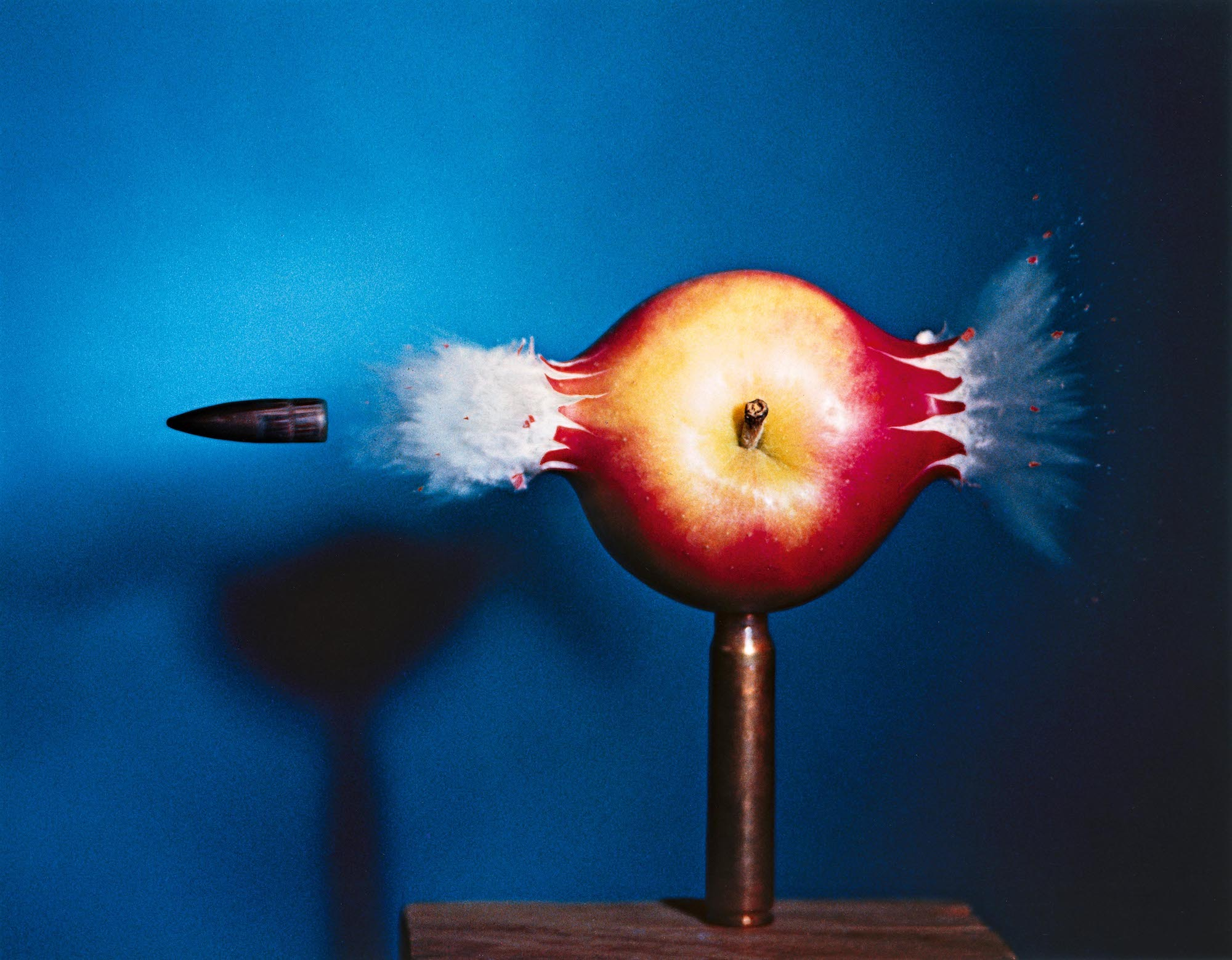 Bullet through Apple, 1964, by Harold Edgerton