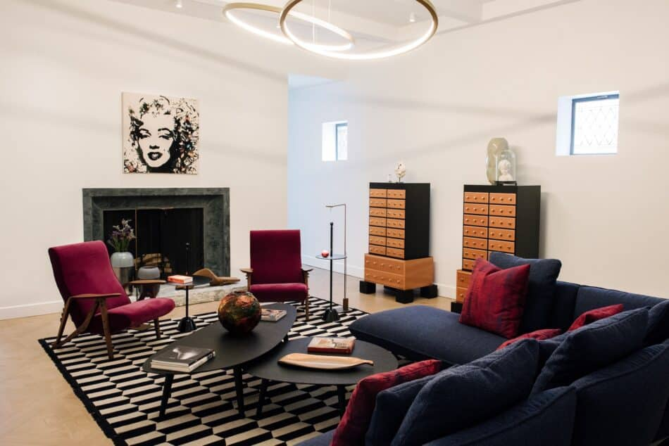 Living room space at Zanotta House