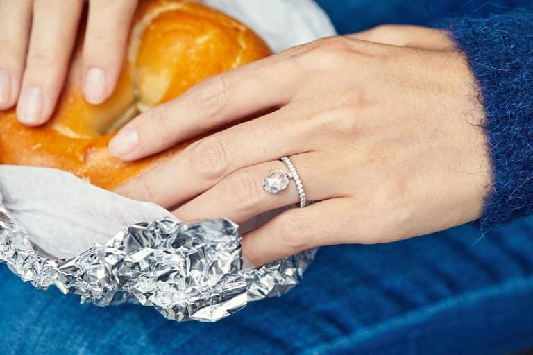 1.60 Carat Rose Cut Diamond Platinum Engagement Ring