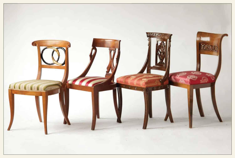 Empire Biedermeier Eclectic Dining Chair Set