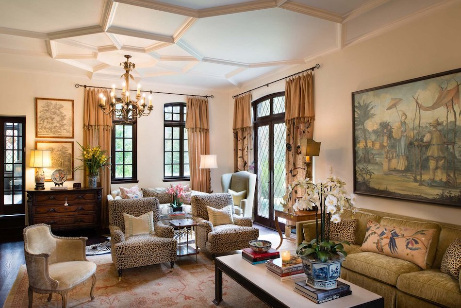 family room by M Interiors