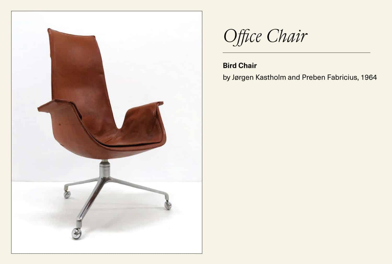 "Leather ""Bird"" office chair"