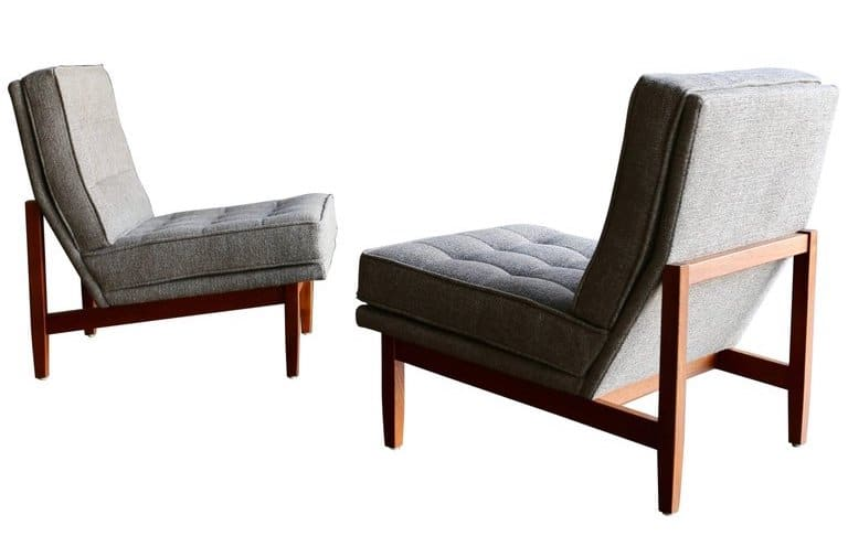 Florence Knoll slipper lounge chairs