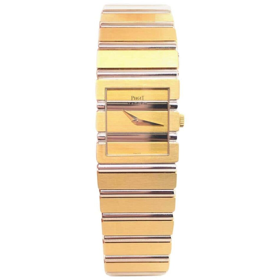 Piaget Polo watch in white gold and yellow gold