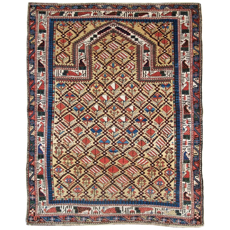 Caucasian Marasali Shirvan prayer rug from last quarter of the 19th century