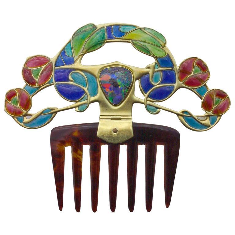 Archibald Knox for Liberty & Co. diadem comb, ca. 1900