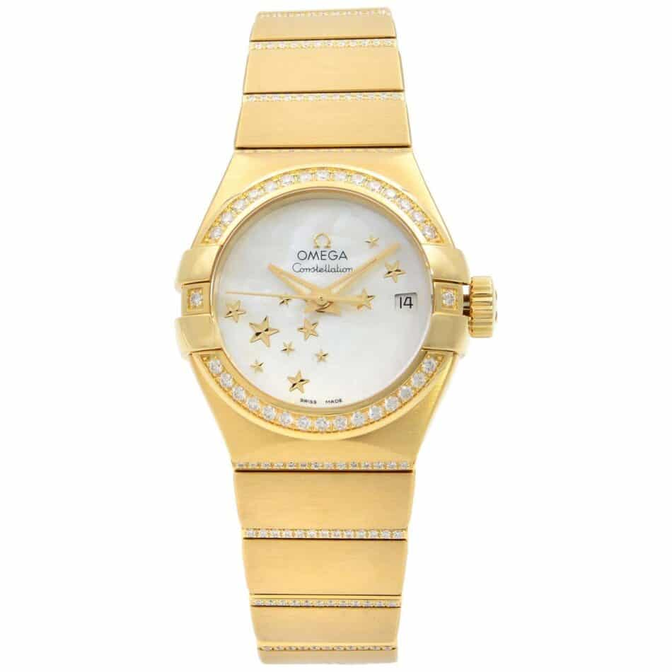 Omega Constellation watch in yellow gold