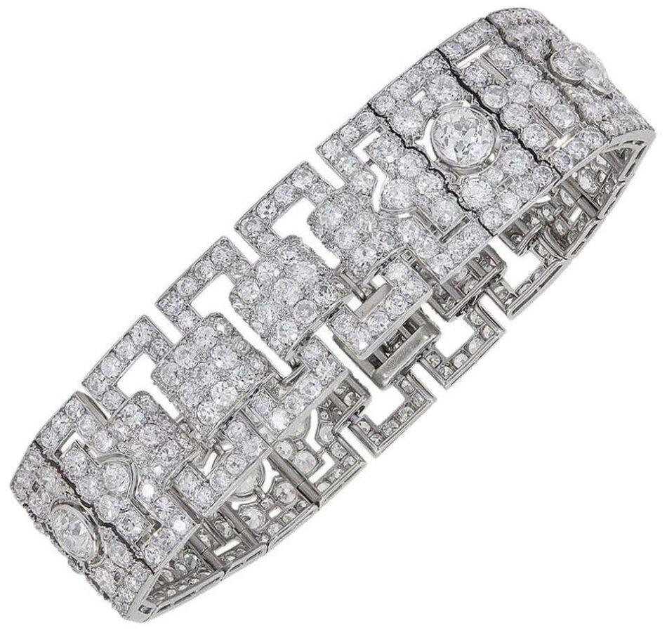 Cartier Diamond and Platinum Bracelet, 1930s