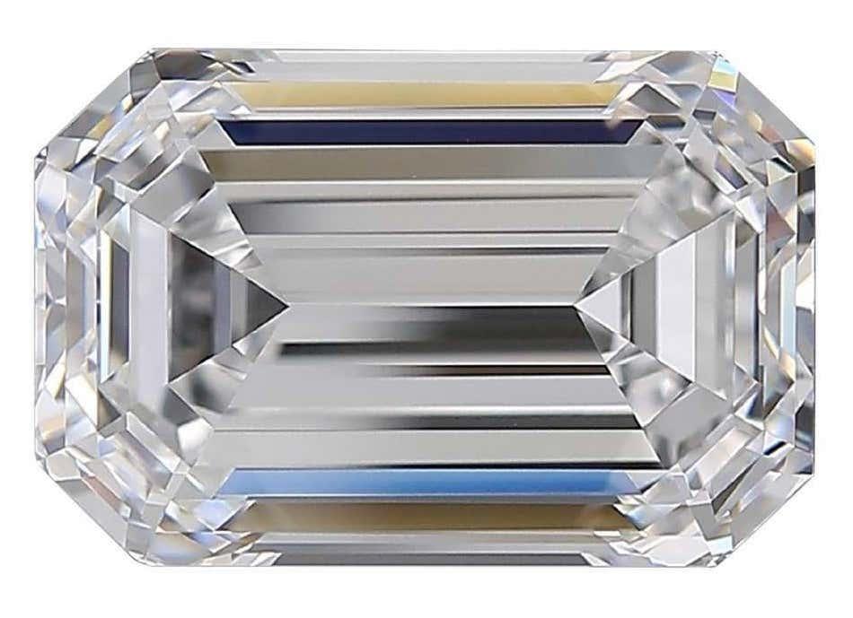 Flawless D color GIA-certified 5.13-carat emerald cut diamond