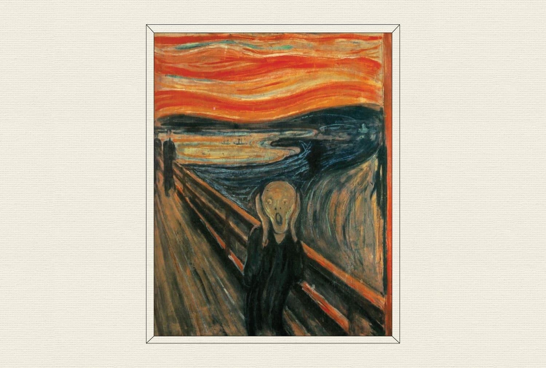 The Scream, 1893, by Edvard Munch