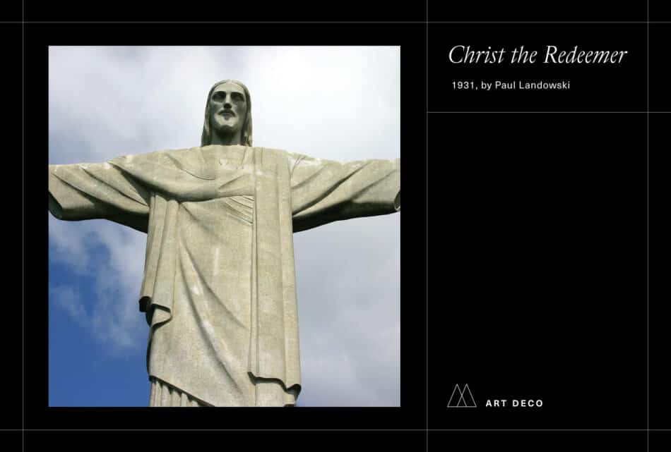 Photo of Christ the Redeemer on a black background