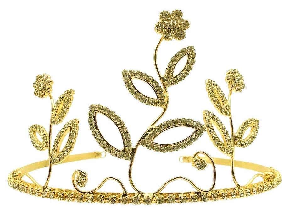 Gold and crystal flower high tiara, 1990s