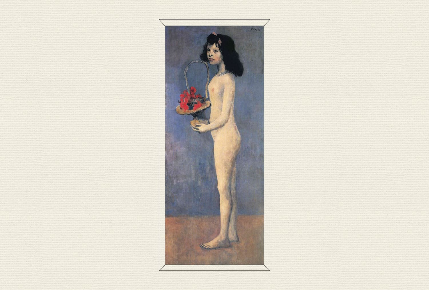 Young Girl with a Flower Basket, 1905, by Pablo Picasso
