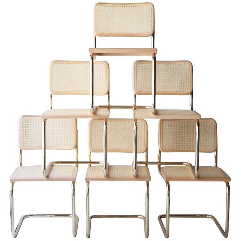 Marcel Breuer Cesca chairs, 1960
