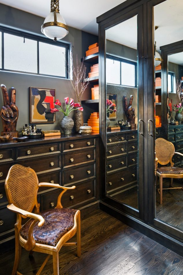 Jeff Andrews' closet in Los Angeles
