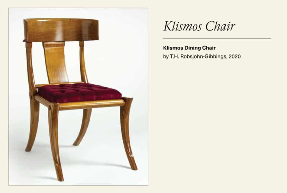 Wooden Klismos chair