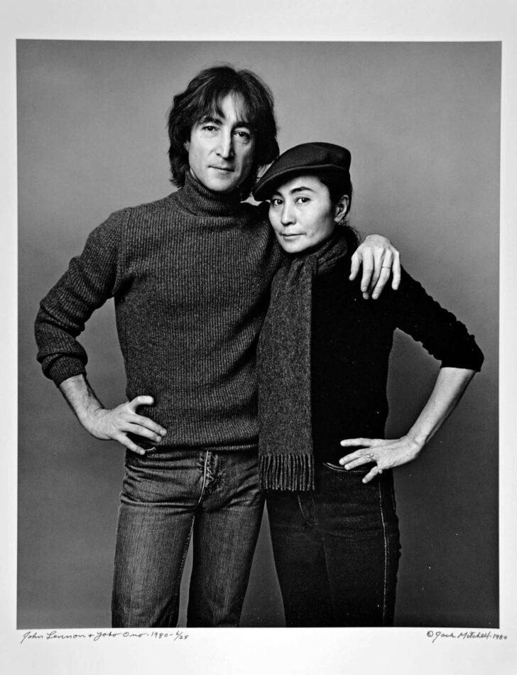 John Lennon and Yoko Ono on November 2, 1980, by Jack Mitchell