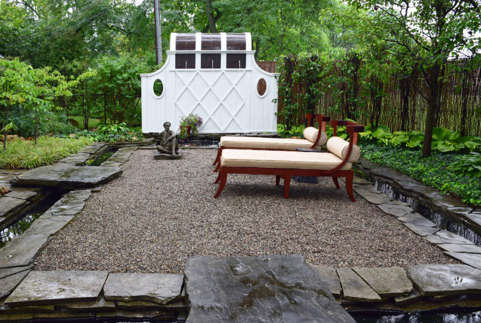Art Harrison Interiors garden in Michigan