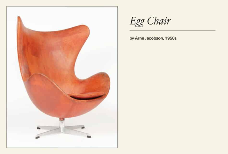 Leather Scandinavian Egg chair