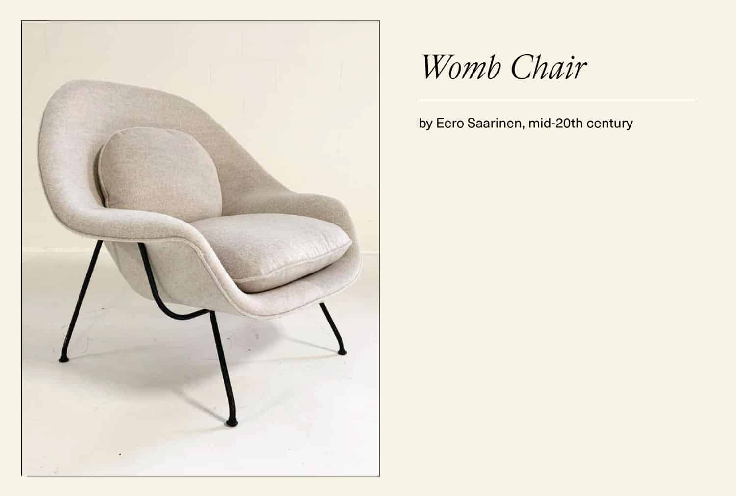 White Womb chair