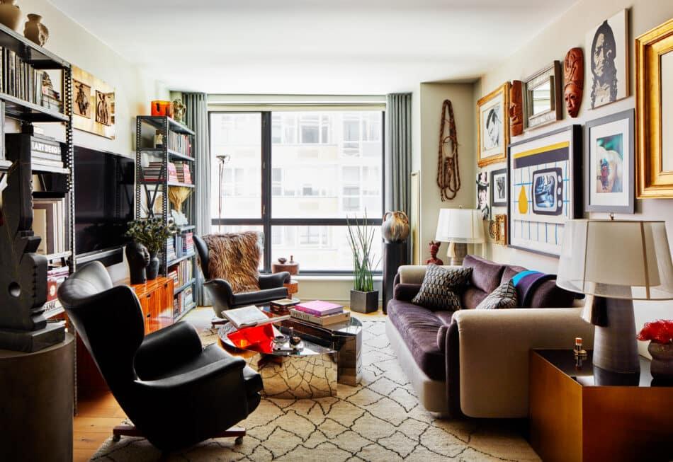 Andrew Torrey's living room in New York
