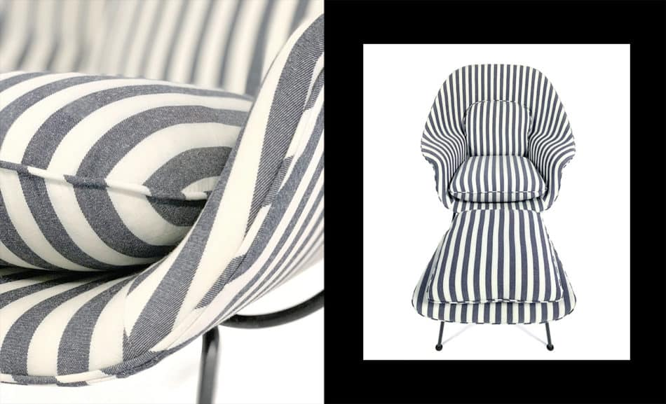 Eero Saarinen Womb chair in KULE stripes