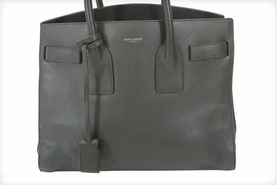 Saint Laurent Baby Sac de Jour Gray Leather Handbag