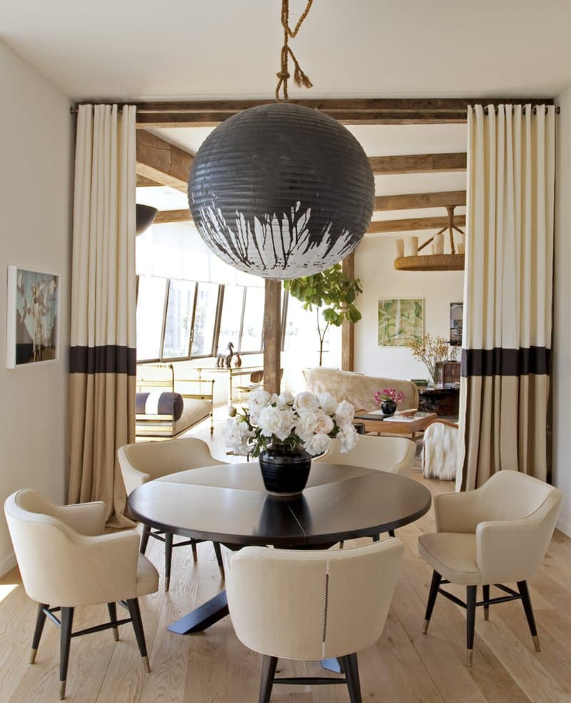 round dining table and chairs