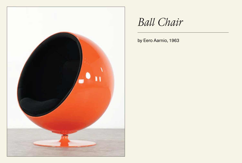 Orange ball chair