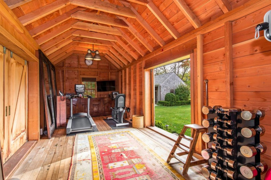 Farmhouse Fitness Space by Haus of Design