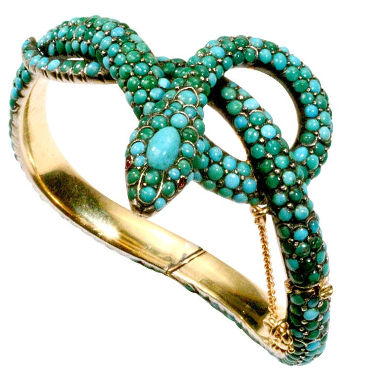 Turquoise snake bracelet, 19th century