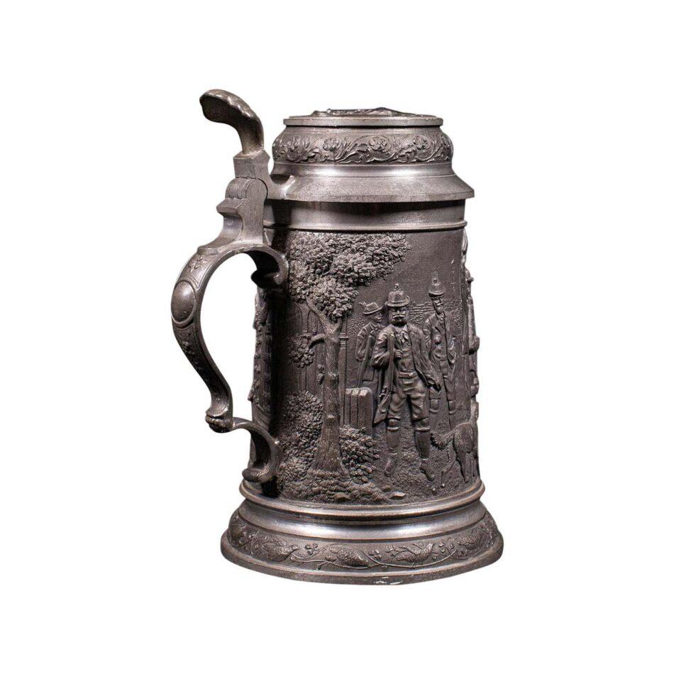 Bavarian Pewter Beer Stein