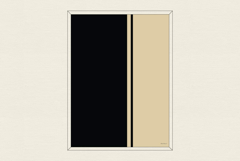 Black Fire I, 1961, by Barnett Newman