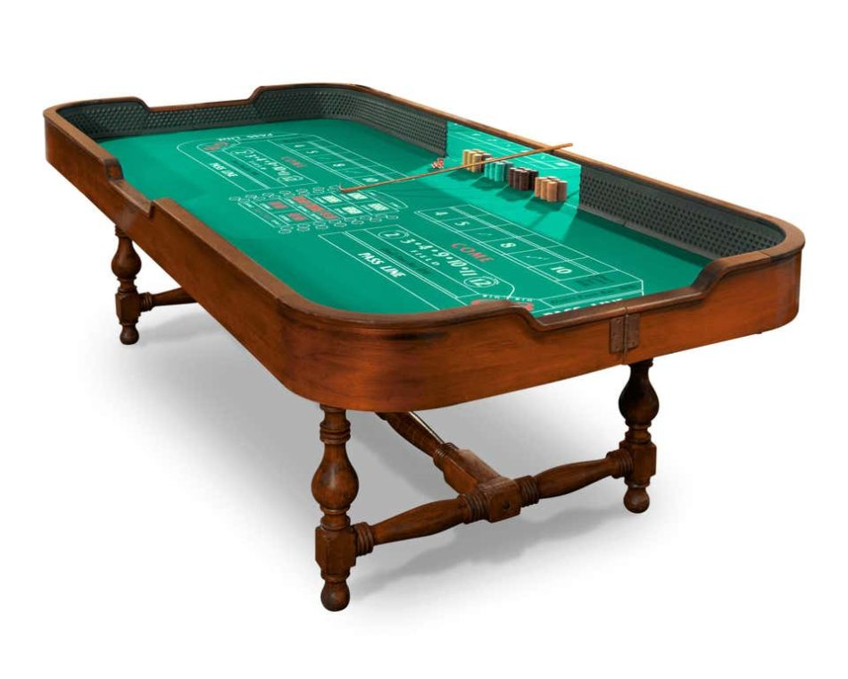 Beverly Club craps table circa 1945