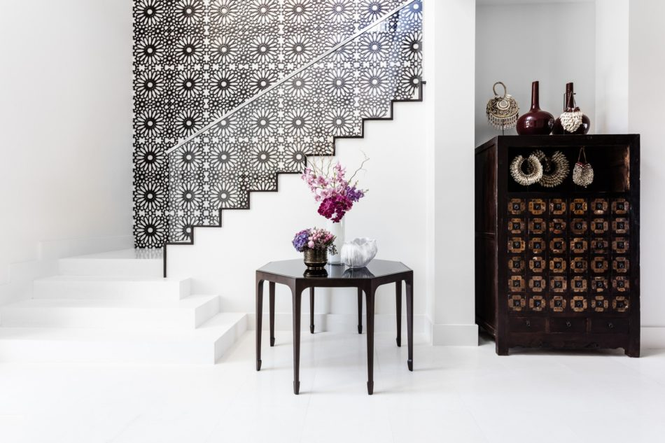 Tom Stringer-designed entryway in a Gold Coast, FL home