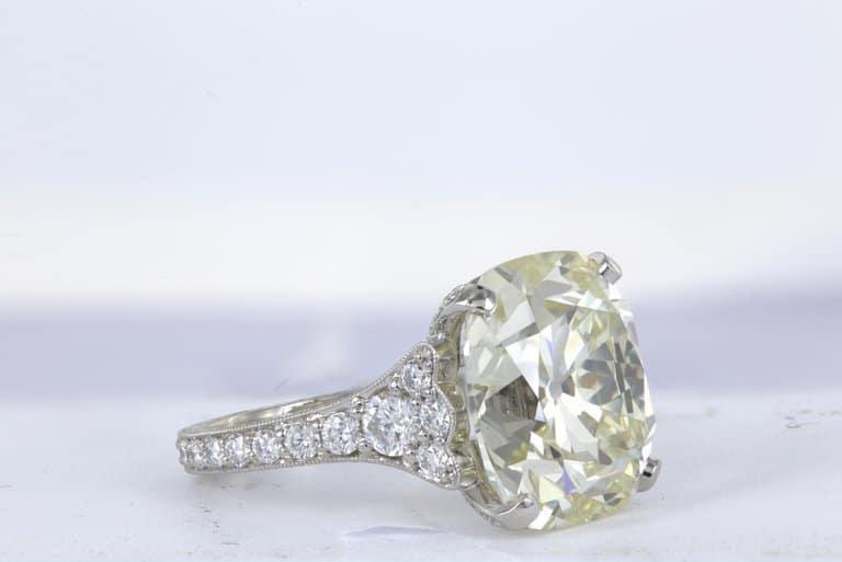 12.85 Carat Cushion Cut Diamond Ring by Shreve, Crump & Low
