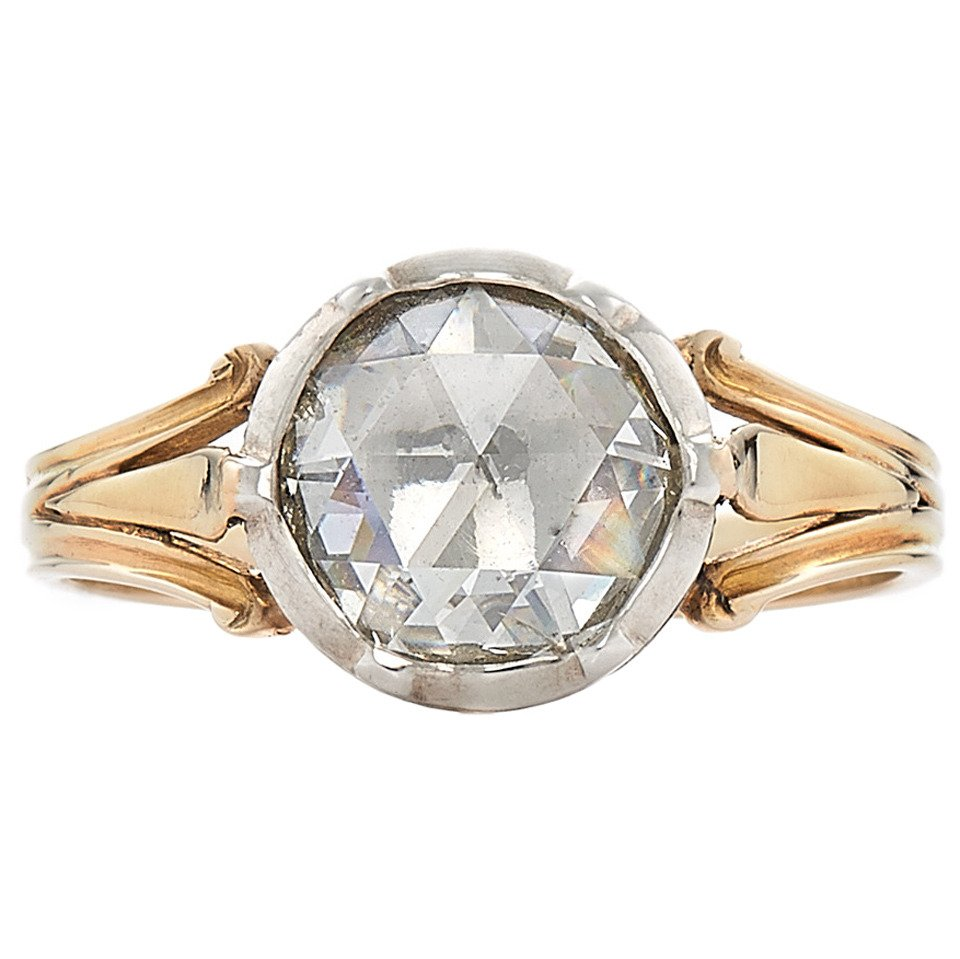 Georgian rose-cut diamond ring, 1820s