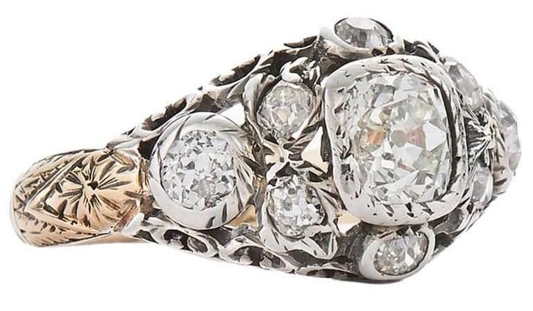 Georgian engagement ring