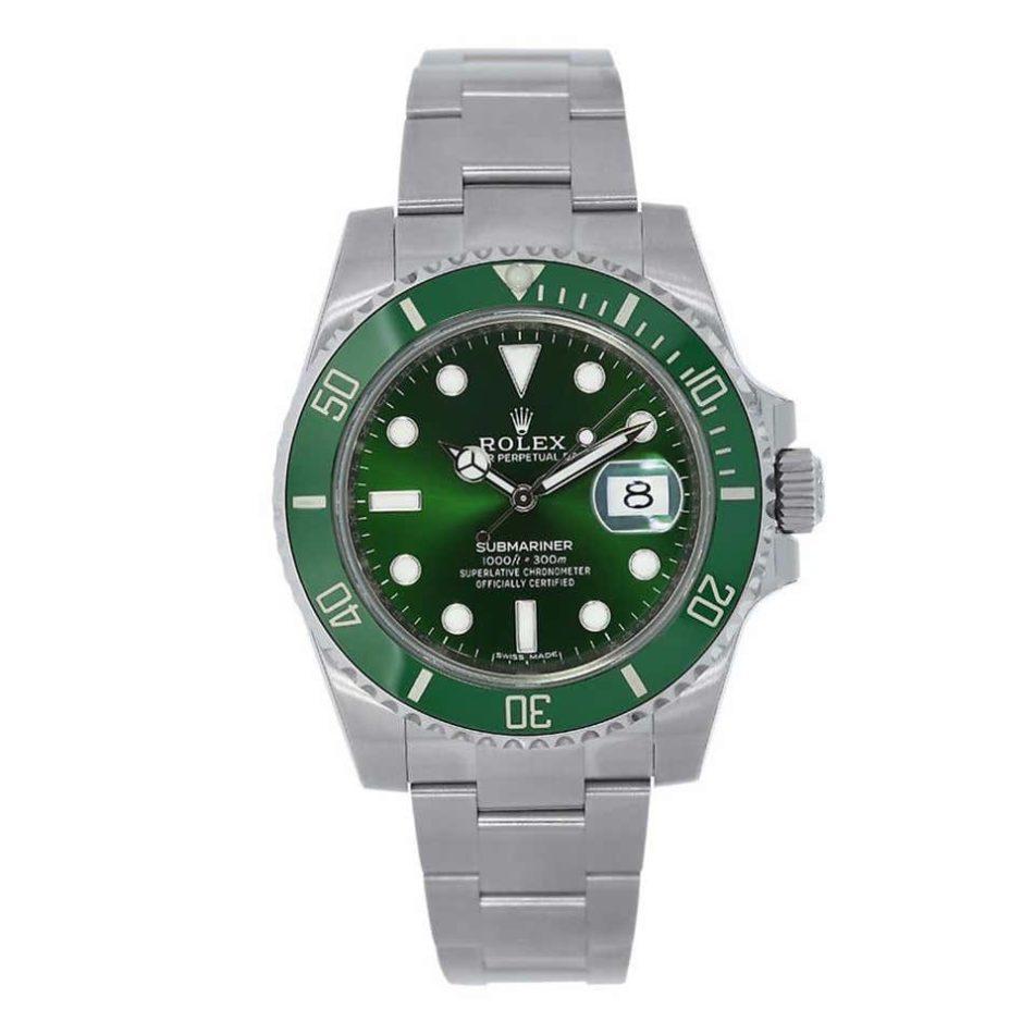 Rolex Submariner Hulk green dial bezel men's watch 116610LV, 2014