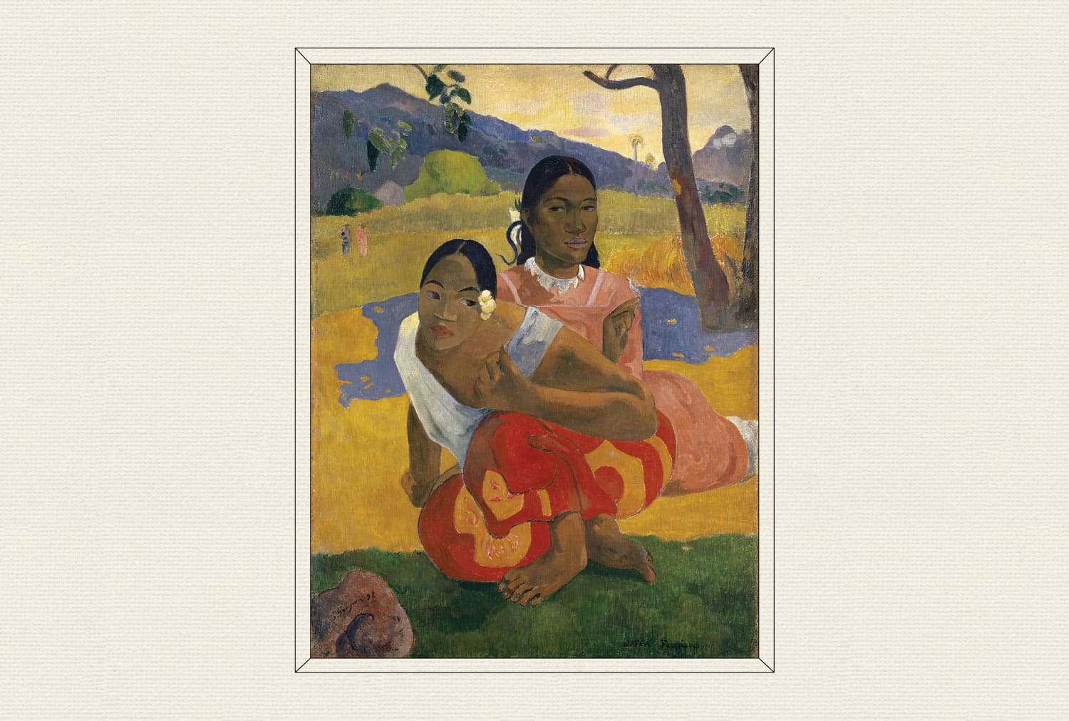 Nafea Faa Ipoipo (When Will You Marry?), 1892, by Paul Gauguin