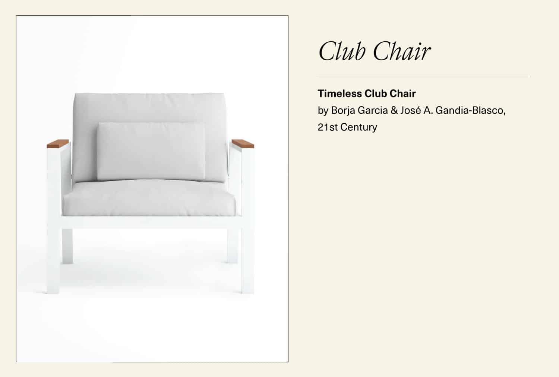 White timeless club chair