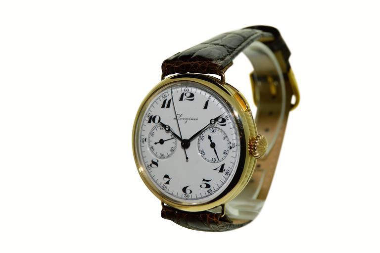 ongines manual military chronograph, 1933