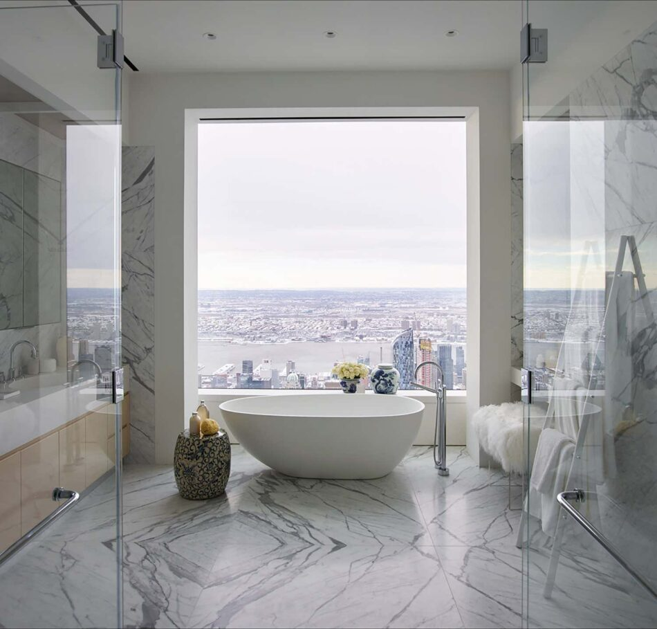 Kelly Behun Studio bathroom in Manhattan
