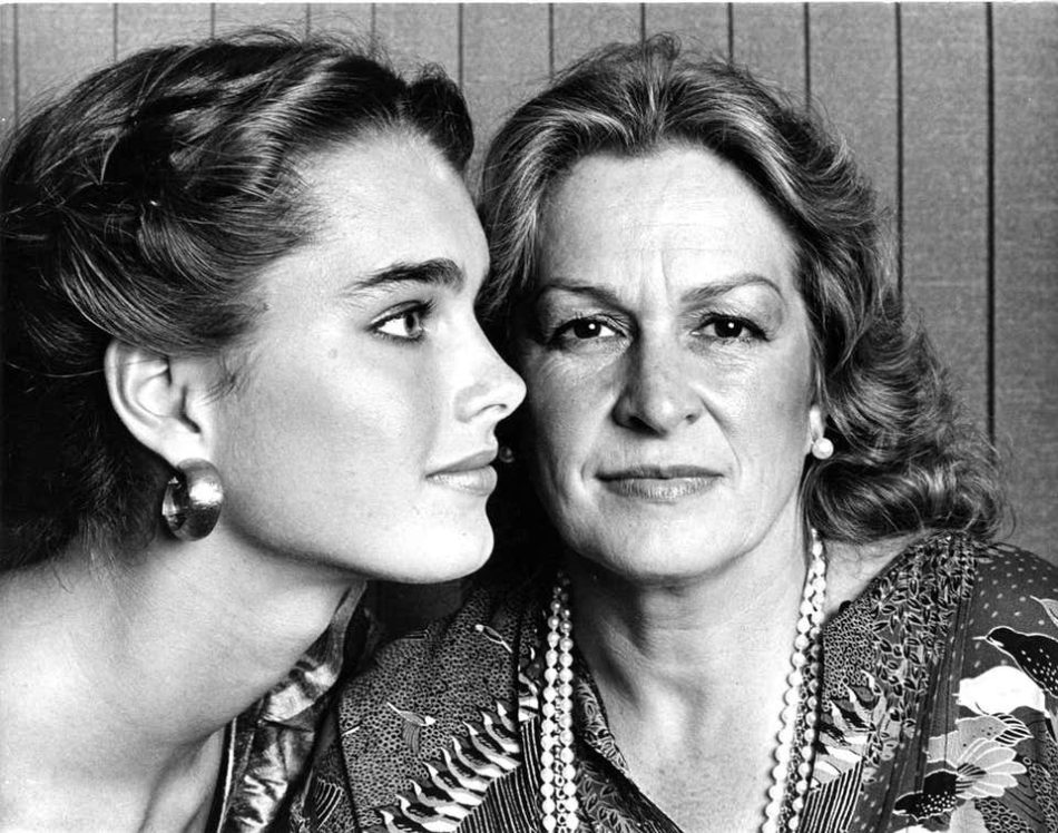 Brooke Shields and Her Mother, Teri, 1981, by Jack Mitchell