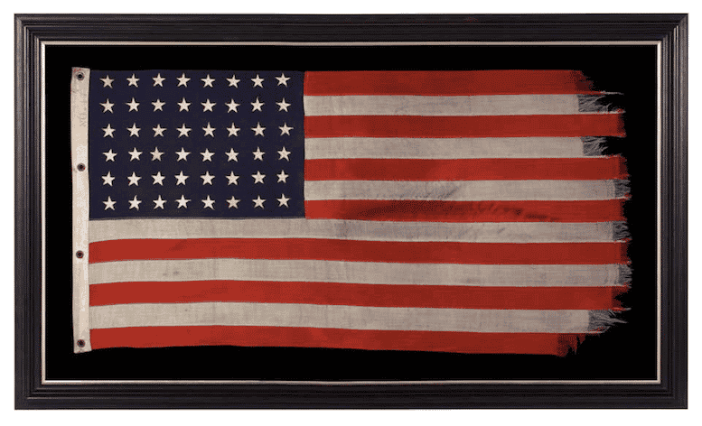 WWII American Flag with 48 Stars, 1940s