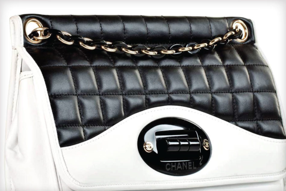 Chanel Two Tone Black and White Flap Bag